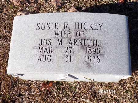 HICKEY ARNETTE, SUSIE RUTH - Dallas County, Arkansas   SUSIE RUTH HICKEY ARNETTE - Arkansas Gravestone Photos