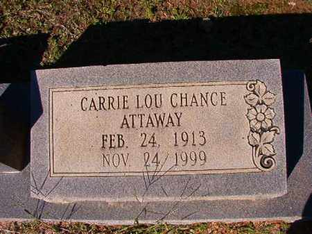 CHANCE ATTAWAY, CARRIE LOU - Dallas County, Arkansas | CARRIE LOU CHANCE ATTAWAY - Arkansas Gravestone Photos