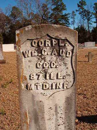 AUD (VETERAN UNION), WILLIAM G - Dallas County, Arkansas   WILLIAM G AUD (VETERAN UNION) - Arkansas Gravestone Photos