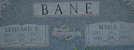 BANE, LEONARD T. - Dallas County, Arkansas | LEONARD T. BANE - Arkansas Gravestone Photos