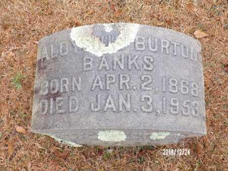 BANKS, ALOYSIUS BURTON - Dallas County, Arkansas | ALOYSIUS BURTON BANKS - Arkansas Gravestone Photos