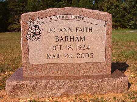 FAITH BARHAM, JO ANN - Dallas County, Arkansas | JO ANN FAITH BARHAM - Arkansas Gravestone Photos