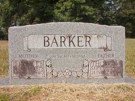 BARKER, MARY E - Dallas County, Arkansas | MARY E BARKER - Arkansas Gravestone Photos