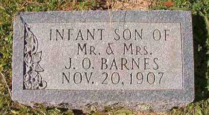 BARNES, INFANT SON - Dallas County, Arkansas   INFANT SON BARNES - Arkansas Gravestone Photos