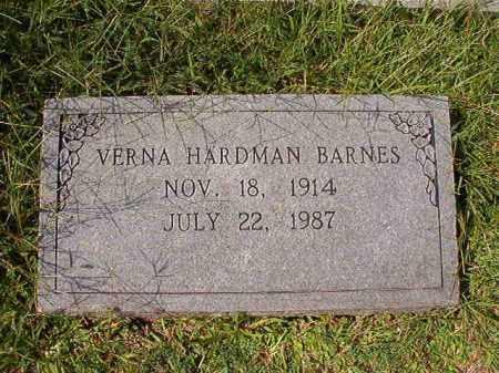 HARDMAN BARNES, VERNA - Dallas County, Arkansas | VERNA HARDMAN BARNES - Arkansas Gravestone Photos