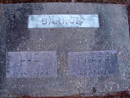 BARRON, LUE - Dallas County, Arkansas | LUE BARRON - Arkansas Gravestone Photos