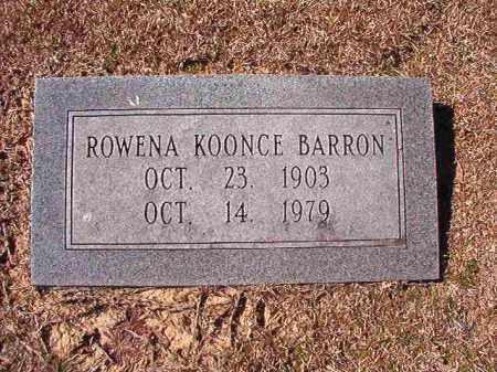 KOONCE BARRON, ROWENA - Dallas County, Arkansas | ROWENA KOONCE BARRON - Arkansas Gravestone Photos