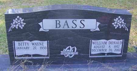 BASS, WILLIAM DONALD - Dallas County, Arkansas   WILLIAM DONALD BASS - Arkansas Gravestone Photos