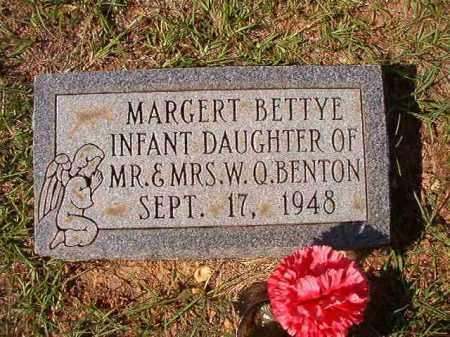 BENTON, MARGERT BETTYE - Dallas County, Arkansas   MARGERT BETTYE BENTON - Arkansas Gravestone Photos
