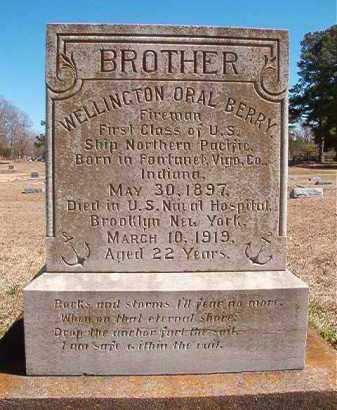 BERRY (VETERAN), WELLINGTON ORAL - Dallas County, Arkansas   WELLINGTON ORAL BERRY (VETERAN) - Arkansas Gravestone Photos
