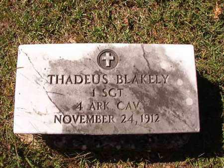BLAKELY (VETERAN UNION), THADEUS - Dallas County, Arkansas | THADEUS BLAKELY (VETERAN UNION) - Arkansas Gravestone Photos