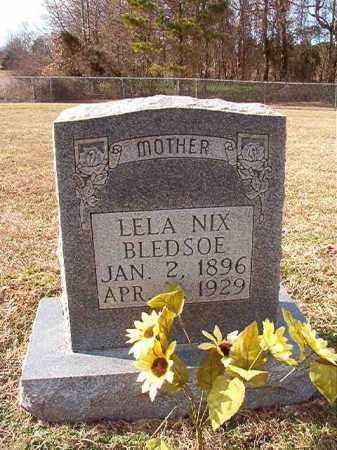NIX BLEDSOE, LELA - Dallas County, Arkansas   LELA NIX BLEDSOE - Arkansas Gravestone Photos