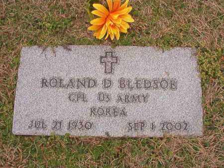 BLEDSOE (VETERAN KOR), ROLAND D - Dallas County, Arkansas | ROLAND D BLEDSOE (VETERAN KOR) - Arkansas Gravestone Photos
