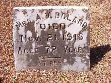 BOLAND, MRS, A V - Dallas County, Arkansas | A V BOLAND, MRS - Arkansas Gravestone Photos