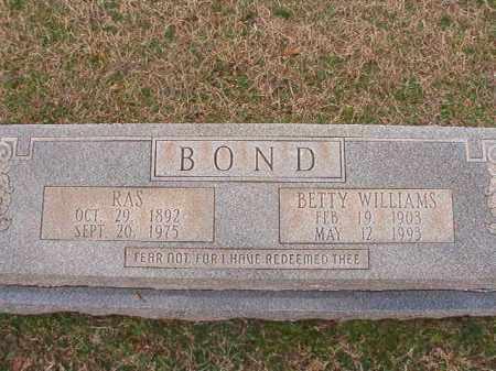 BOND, RAS - Dallas County, Arkansas | RAS BOND - Arkansas Gravestone Photos