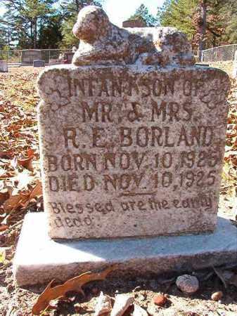 BORLAND, INFANT SON - Dallas County, Arkansas | INFANT SON BORLAND - Arkansas Gravestone Photos