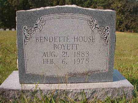 HOUSE BOYETT, BENDETTE - Dallas County, Arkansas | BENDETTE HOUSE BOYETT - Arkansas Gravestone Photos