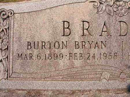 BRADLEY, BURTON BRYAN (CLOSE UP) - Dallas County, Arkansas | BURTON BRYAN (CLOSE UP) BRADLEY - Arkansas Gravestone Photos