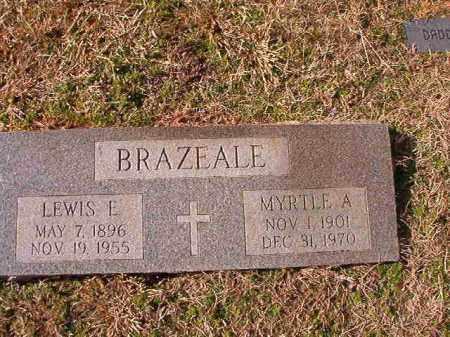BRAZEALE, LEWIS E - Dallas County, Arkansas | LEWIS E BRAZEALE - Arkansas Gravestone Photos