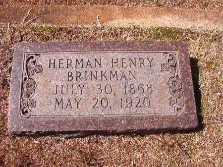 BRINKMAN, HERMAN HENRY - Dallas County, Arkansas | HERMAN HENRY BRINKMAN - Arkansas Gravestone Photos