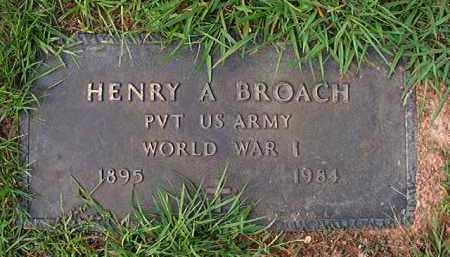 BROACH (VETERAN WWI), HENRY A - Dallas County, Arkansas | HENRY A BROACH (VETERAN WWI) - Arkansas Gravestone Photos