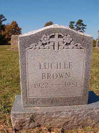 BROWN, LUCILLE - Dallas County, Arkansas   LUCILLE BROWN - Arkansas Gravestone Photos