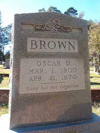 BROWN, OSCAR D - Dallas County, Arkansas | OSCAR D BROWN - Arkansas Gravestone Photos
