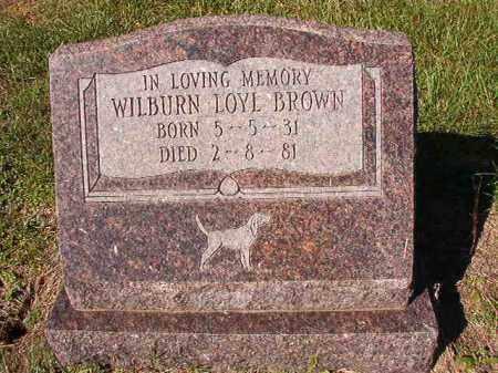 BROWN, WILBURN LOYL - Dallas County, Arkansas   WILBURN LOYL BROWN - Arkansas Gravestone Photos