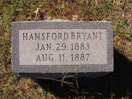 BRYANT, HANSFORD - Dallas County, Arkansas | HANSFORD BRYANT - Arkansas Gravestone Photos