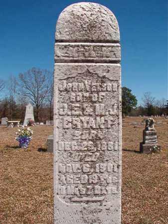 BRYANT, JOHN VENSON - Dallas County, Arkansas | JOHN VENSON BRYANT - Arkansas Gravestone Photos