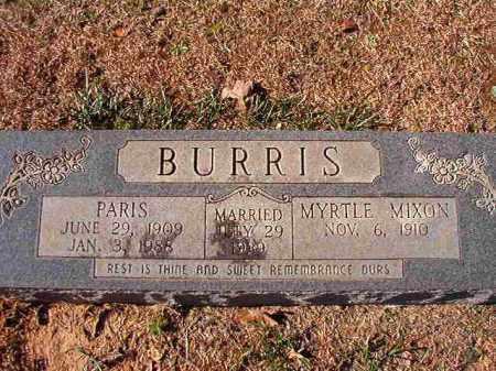 BURRIS, PARIS - Dallas County, Arkansas   PARIS BURRIS - Arkansas Gravestone Photos