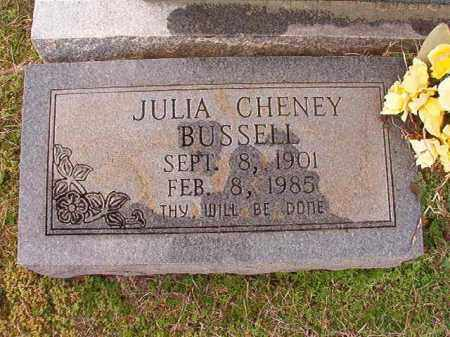 CHENEY BUSSELL, JULIA - Dallas County, Arkansas | JULIA CHENEY BUSSELL - Arkansas Gravestone Photos