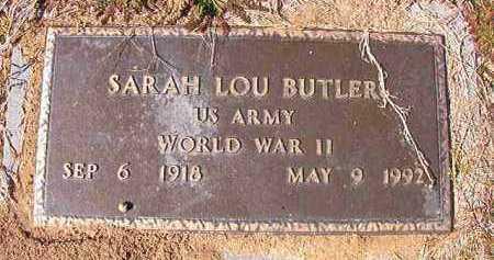 BUTLER (VETERAN WWII), SARAH LOU - Dallas County, Arkansas | SARAH LOU BUTLER (VETERAN WWII) - Arkansas Gravestone Photos