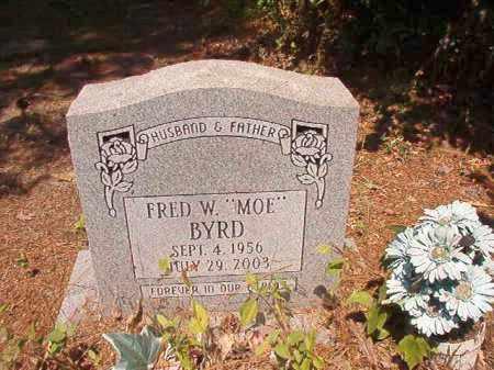 """BYRD, FRED W """"MOE"""" - Dallas County, Arkansas   FRED W """"MOE"""" BYRD - Arkansas Gravestone Photos"""