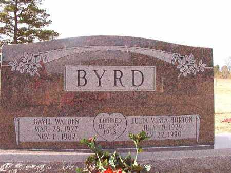 HORTON BYRD, JULIA VESTA - Dallas County, Arkansas | JULIA VESTA HORTON BYRD - Arkansas Gravestone Photos
