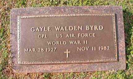 BYRD (VETERAN WWII), GAYLE WALDEN - Dallas County, Arkansas | GAYLE WALDEN BYRD (VETERAN WWII) - Arkansas Gravestone Photos