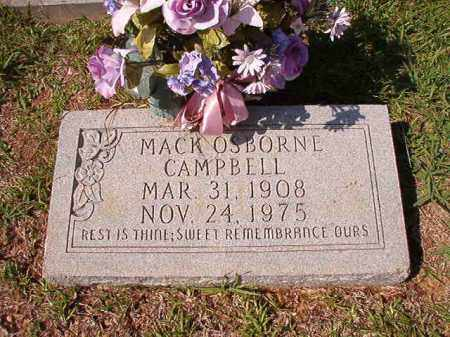 CAMPBELL, MACK OSBORNE - Dallas County, Arkansas | MACK OSBORNE CAMPBELL - Arkansas Gravestone Photos