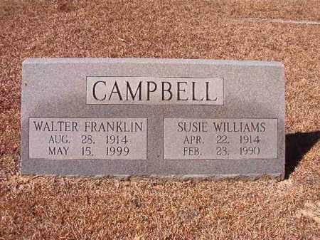CAMPBELL, WALTER FRANKLIN - Dallas County, Arkansas | WALTER FRANKLIN CAMPBELL - Arkansas Gravestone Photos