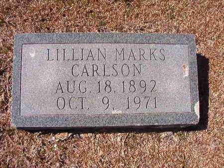 MARKS CARLSON, LILLIAN - Dallas County, Arkansas | LILLIAN MARKS CARLSON - Arkansas Gravestone Photos