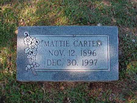 CARTER, MATTIE - Dallas County, Arkansas | MATTIE CARTER - Arkansas Gravestone Photos