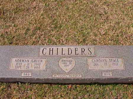 CHILDERS, NORMAN GREEN - Dallas County, Arkansas | NORMAN GREEN CHILDERS - Arkansas Gravestone Photos