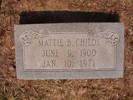 CHILDS, MATTIE B - Dallas County, Arkansas | MATTIE B CHILDS - Arkansas Gravestone Photos
