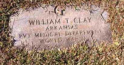 CLAY (VETERAN WWII), WILLIAM T - Dallas County, Arkansas | WILLIAM T CLAY (VETERAN WWII) - Arkansas Gravestone Photos