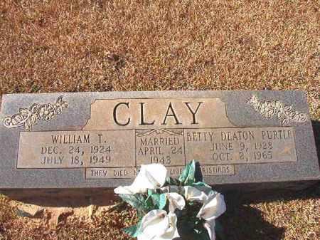 DEATON PURTLE CLAY, BETTY - Dallas County, Arkansas   BETTY DEATON PURTLE CLAY - Arkansas Gravestone Photos