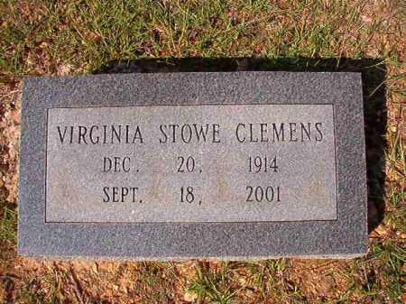 STOWE CLEMENS, VIRGINIA - Dallas County, Arkansas   VIRGINIA STOWE CLEMENS - Arkansas Gravestone Photos