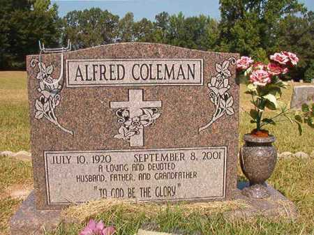 COLEMAN, ALFRED - Dallas County, Arkansas   ALFRED COLEMAN - Arkansas Gravestone Photos