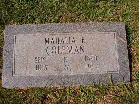COLEMAN, MAHALIA E - Dallas County, Arkansas | MAHALIA E COLEMAN - Arkansas Gravestone Photos
