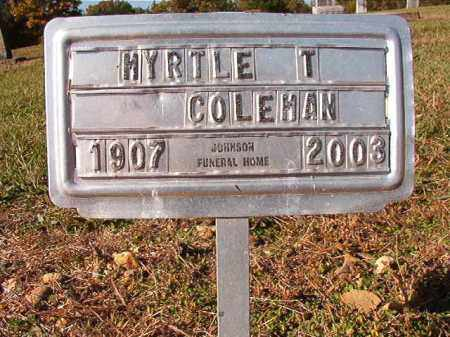 COLEMAN, MYRTLE T - Dallas County, Arkansas   MYRTLE T COLEMAN - Arkansas Gravestone Photos