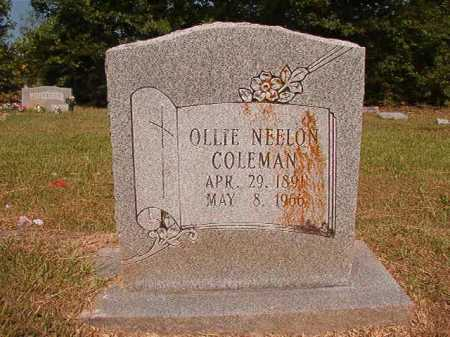COLEMAN, OLLIE - Dallas County, Arkansas | OLLIE COLEMAN - Arkansas Gravestone Photos
