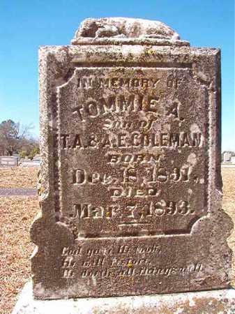 COLEMAN, TOMMIE A - Dallas County, Arkansas   TOMMIE A COLEMAN - Arkansas Gravestone Photos